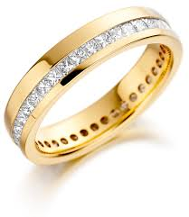 fancy wedding rings two lines gold bridal rings wedding rings