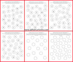 dot sticker uppercase and lowercase letter matching 101 ways to