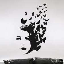 wall graphic butterfly hair