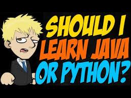 should i learn java or python youtube