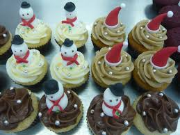 sift christmas themed cupcakes