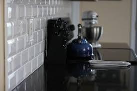 Tiling Backsplash Beveled Subway Tile  Two Delighted - Beveled subway tile backsplash