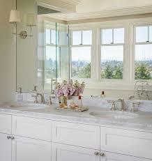 Bathroom Sconces Polished Nickel Bryant Sconces On Frameless Vanity Mirror Transitional Bathroom