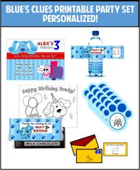 blue u0027s clues party drink labels personalized u2013 partygamesplus