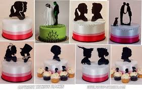 custom cupcake toppers paperportraits new custom wedding cake topper silhouettes