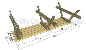 Diy Picnic Table Plans Free long picnic table outdoorlivingdecor