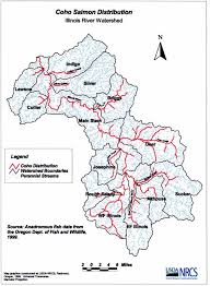 Map Illinois by Coho Salmon Distribution Map Illinois Valley Soil U0026 Water