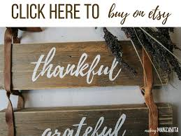 thankful grateful blessed pallet wood sign with leather straps