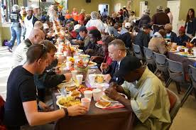 700 homeless get taste of thanksgiving wednesday at city rescue