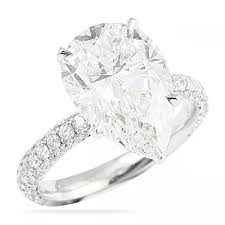 Pear Shaped Wedding Ring by 5 00 Ct Pear Shape Diamond Engagement Ring