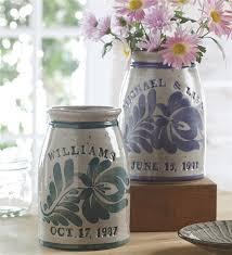 personalized wedding personalized wedding crock ceramic crocks plow hearth