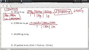 metric conversions worksheet 2 episode 104 page1 22 youtube