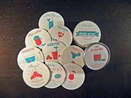 beverage coasters merci beaucoup letterpress wine tags dolce press