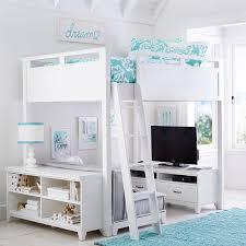 Pb Teen Bedrooms Hampton Convertible Loft Bed Pbteen