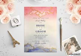 watercolor wedding invitations pink and blue watercolor wedding invitation 1 buy this stock