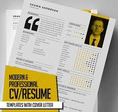 new modern cv resume templates with cover letter design
