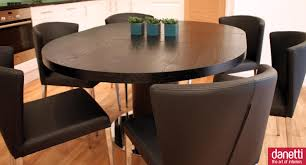 furniture table leafs round expandable dining table dining