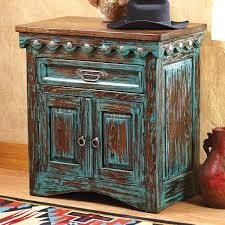 bedroom charming bedroom decoration with turquoise nightstand and rustic turquoise nightstand with triple drawers with silver handle for home furniture ideas
