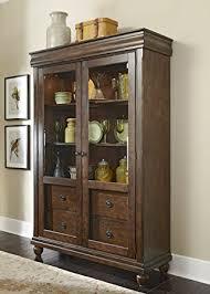rustic wood display cabinet rustic display cabinet modern amazon com liberty furniture tradition