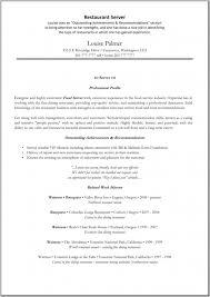 Serving Resume Template Restaurant Server Resume Sample Restaurant Resumes Restaurant