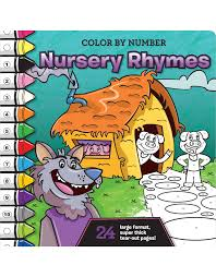 color by number nursery rhymes beaver books publishing