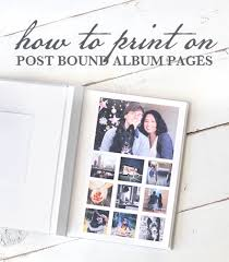 post bound scrapbook post bound scrapbook diy printing on post bound pages the blue
