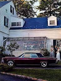 1965 lincoln continental sedan in royal maroon paint code x