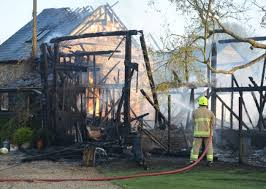 Barn Fires Fire Crews Battle To Stop Fire Spreading To Cottage In Village