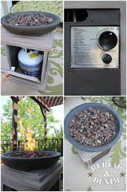 Outdoor Propane Gas Fireplace - best 25 diy propane fire pit ideas on pinterest propane fire