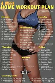 at home workout plans for women 4 week home workout plan posted by advancedweightlosstips com