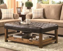 Square Leather Storage Ottoman Coffee Table by Coffee Table Amazing Coffee Table With Storage Ottoman Furniture