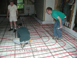 pex radiant slab on grade pex underfloor heating system install
