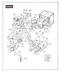 ezgo golf cart wiring diagram gas 1994 endear 1989 ez go