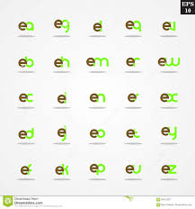 initial letter e compilation from a to z lowercase logo design