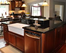 black kitchen island with brown cabinets modern kitchen island