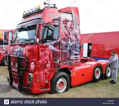 tractor volvo beautifully painted volvo tractor unit articulated lorry unit