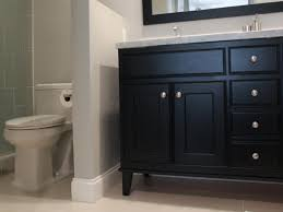 Bathroom With Black Walls Bathroom With Black Vanity And Privacy Wall The Partial Wall
