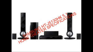 samsung home theater speakers samsung ht j5130hk 5 1 home theater specifications complete