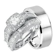 Used Wedding Rings by Jewelry Rings Trio Ring Sets Ebay Used Wedding For Him And Her