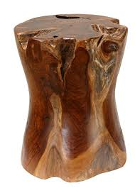 tree stump accent table amazon com bare decor hourglass artisan accent solid teak wood tree