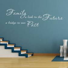 family past future wall art sticker lounge quote decal transfer family past future wall art sticker lounge quote