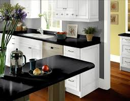 Grey Walls White Cabinets - Black granite with white cabinets in bathroom