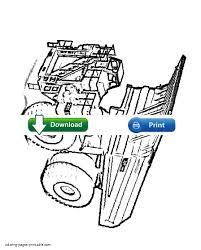 cat 793 truck coloring page