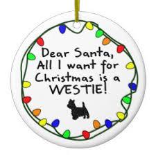 santa westie tree decorations ornaments zazzle co uk