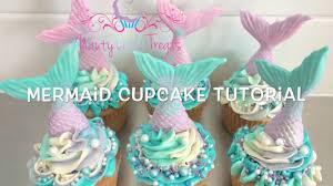 mermaid cupcakes and easy mermaid cupcake tutorial