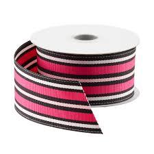 grosgrain ribbon pink black stripe grosgrain ribbon the container store