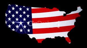 United States Light Map flag of united states with stencil of the map royalty free video