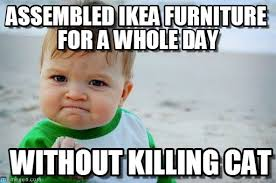 Ikea Furniture Meme - ikea achievement unlocked success kid original meme on memegen