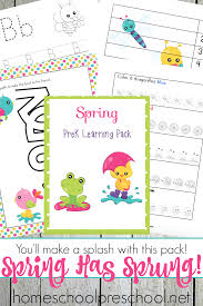 free printable spring preschool learning pack money saving mom