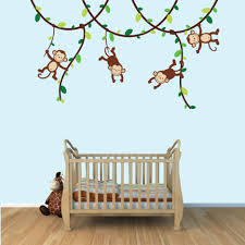 Monkey Bedding Baby Nursery Nice Looking Baby Room Decoration With Maple Wood